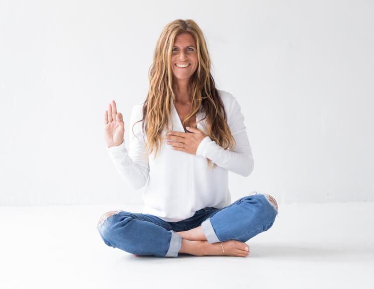 Gloria Latham Kundalini Yoga position